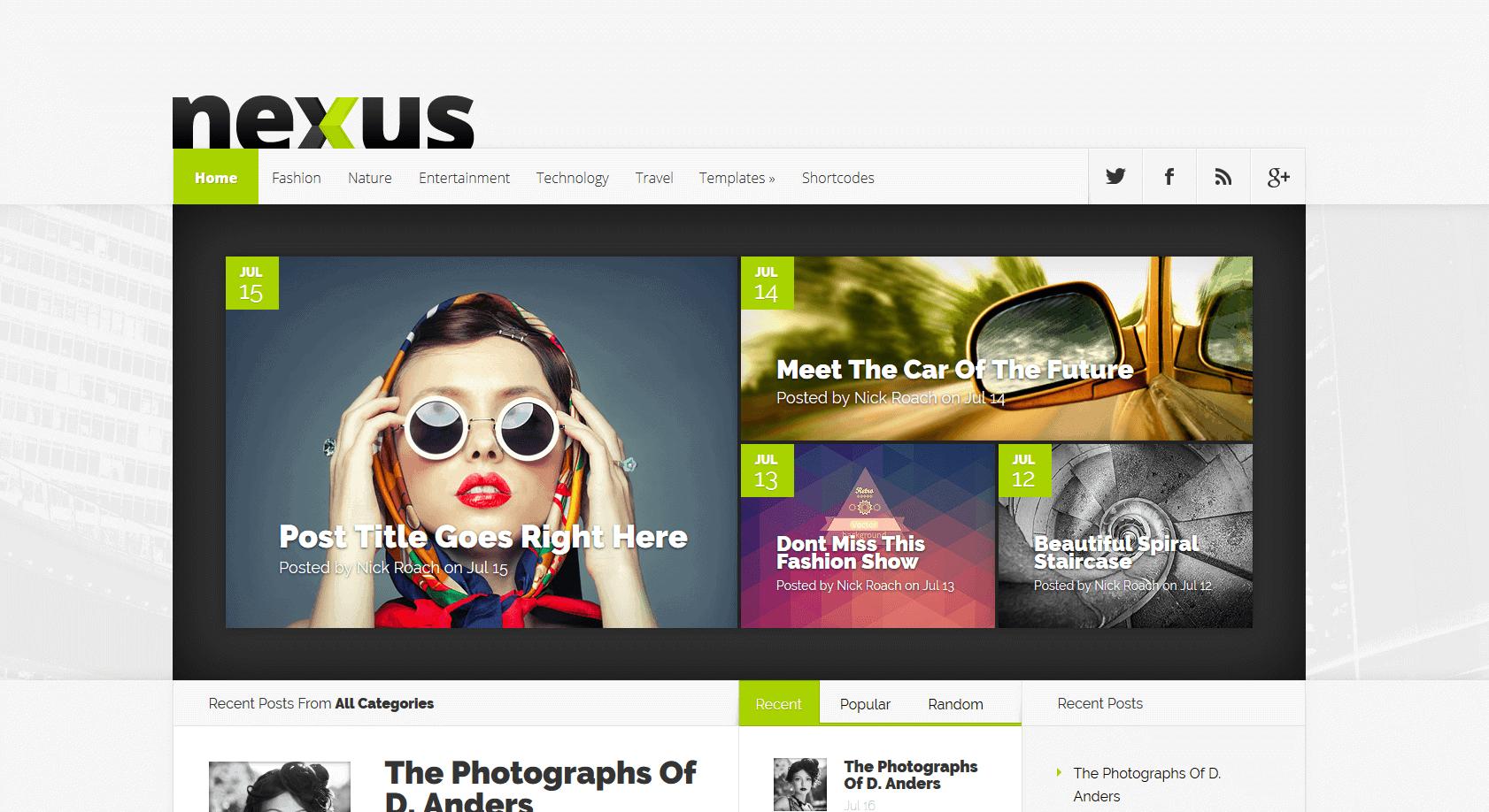 nexus WordPress theme Divi