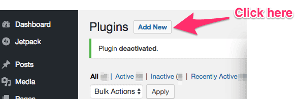 adding new plugin on wordpress